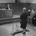 Woman testifying before a judge