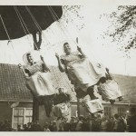 Dutch women in traditional costume in a carousel