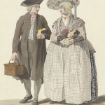 Man and woman in traditional clothes