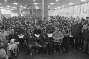 workers in a factory hall
