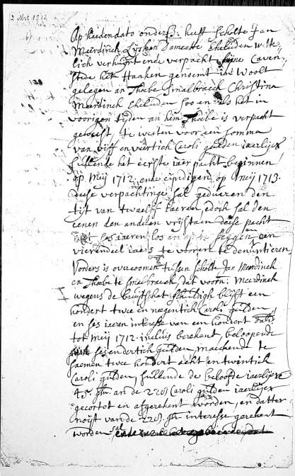 Tenancy contract 1712