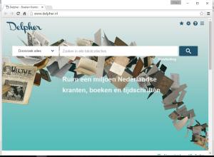 Delpher homepage