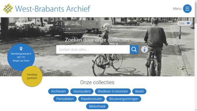 screenshot West-Brabants Archief