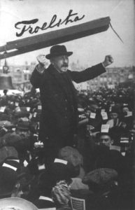 Politician speaking to a crowd