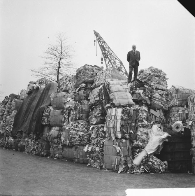 piles of recyclable paper