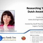 Quick tip – Watch Dutch Genealogy Webinar for Free