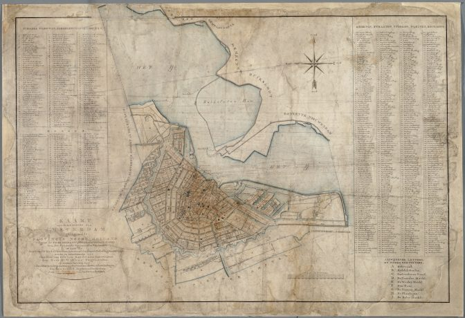 plat map of Amsterdam 1832