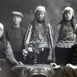family in traditional costume