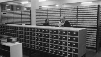 card catalogs in reading room