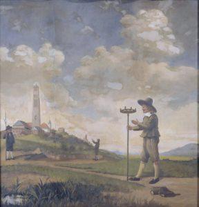 surveyor measuring land