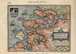 map of the Zeeland islands