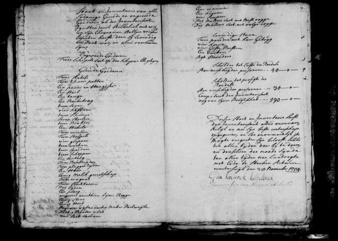 1754 estate inventory