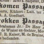 Dutch term – Passagierslijst