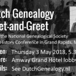 Changed location for the Dutch Genealogy Meet-and-Greet at NGS on 3 May 2018