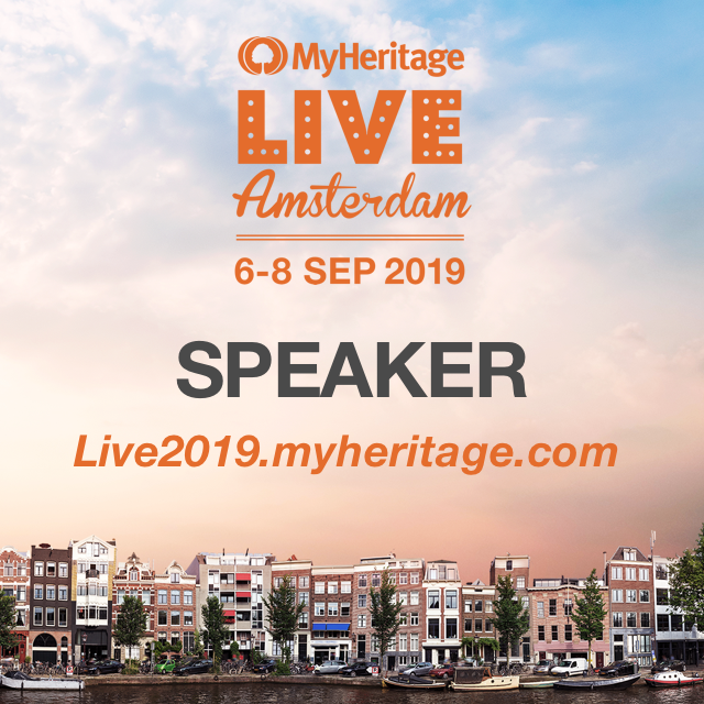 MyHeritage Live 2019 speaker