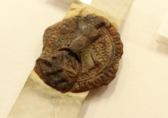 Seal of Jan van Wijfliet on the 1344 charter