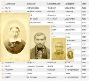 Secret register of released prisoners