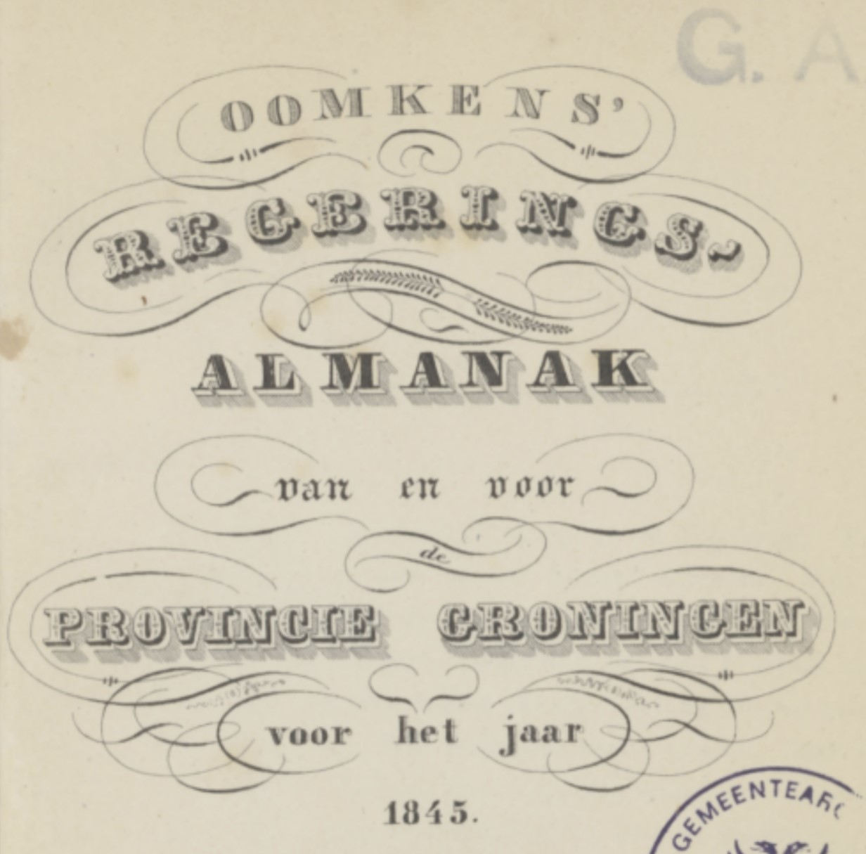 front page of almanac
